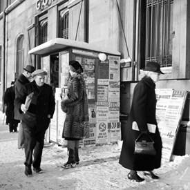 Tidningsförsäljning Drott111 1940-45