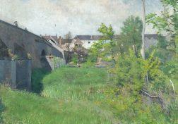 Karl Nordström. Gamla bron i Grez