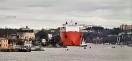 Här kommer det kinesiska lastfartyget med lotsa
